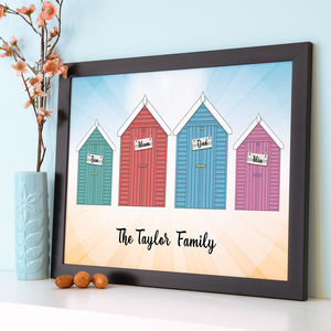 Personalised Beach Hut Art - modern & abstract