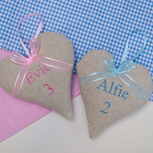 Children's Name And Age Heart - personalised