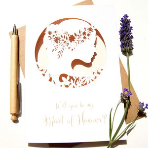 Boho Maid Of Honour Card