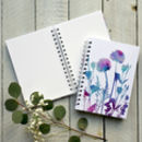 Alliums And Lisianthus Spiral Bound Journal/Sketch Book