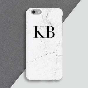 Personalised Marble Initials Mobile Phone Case