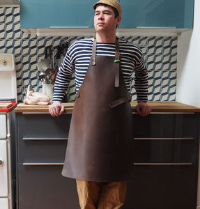 Leather Barbecue Apron