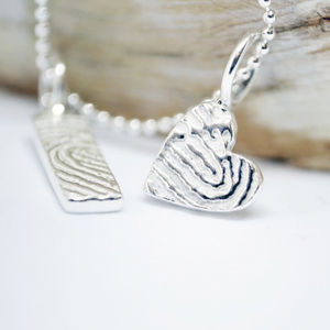 Mini Inked Fingerprint Charm - necklaces & pendants