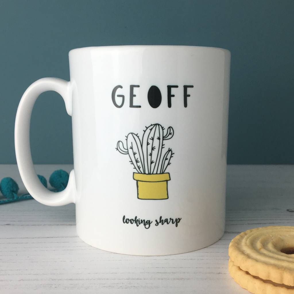 Looking Sharp Motivational Cactus China Mug