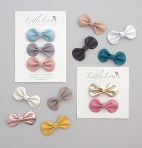 Little Love Bow Hair Clip Set/ Pick Your Own Colours