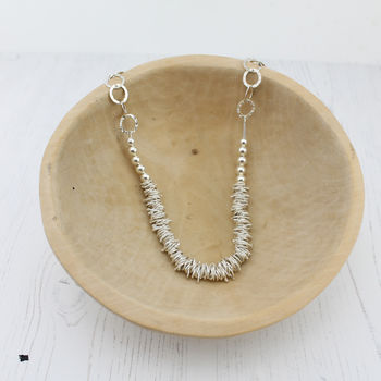 Silver Large Nugget Necklace