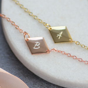 Personalised Rhombus Bracelet - personalised jewellery