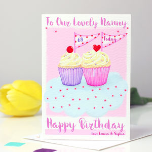 Personalised Cupcake Relation Birthday Card - birthday cards