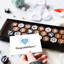 New Baby Date Congratulations Chocolates And Card