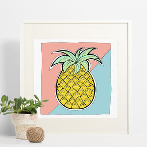 Pineapple Print - children's pictures & paintings