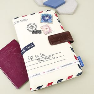 Paper Plane Cream Travel Wallet - passport & travel card holders