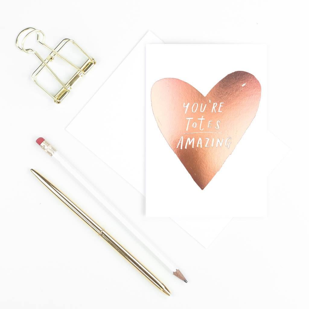 'You're Totes Amazing' Valentine's Card