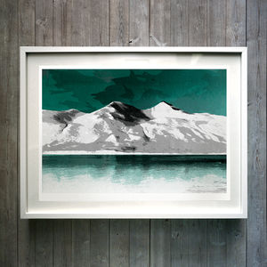 The Mountain V3. Fine Art Giclée Print - paintings