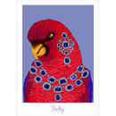 Red Lory Parrot Art Print