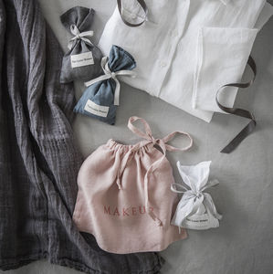 Linen Makeup Bag - make-up bags
