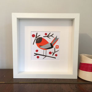 Framed Bird Collages