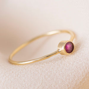 18ct Gold Ruby Ring - rings