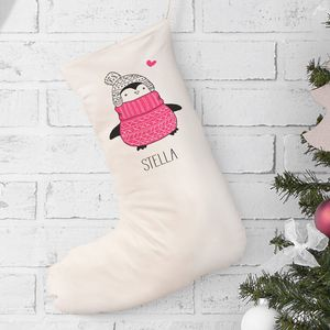Personalised 'Cosy Penguin' Stocking
