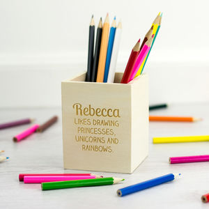 Personalised Childrens Pencil Pot - desk accessories