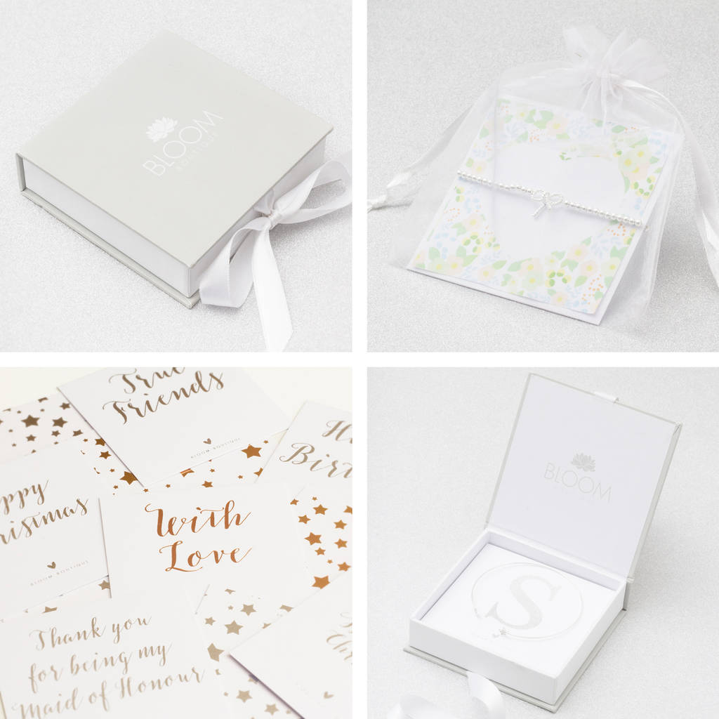 Paige Diamante Bow And Pearl Earrings Luxury Gift Cards Luxury Packaging