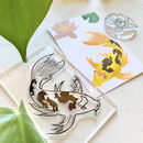 Koi Carp Rubber Stamp