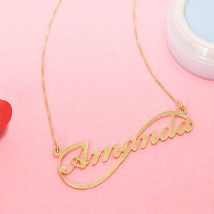 14ct Gold Personalised Infinitive Name Necklace