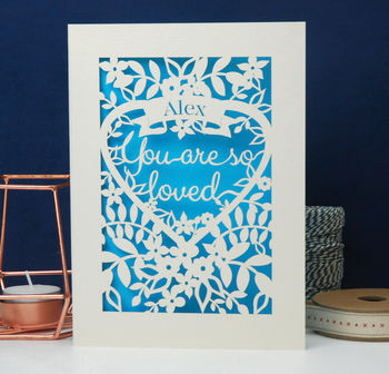 Love Keepsake Papercut Valentine's Card