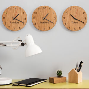 Personalised Places Clocks - bedroom