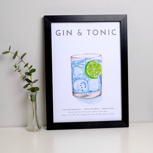 Cocktail Print Gin And Tonic