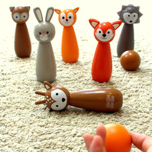 Woodland Animal Bowling Set