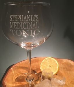 Medicinal Tonic…And A Little Gin Personalised Gin Glass - glassware