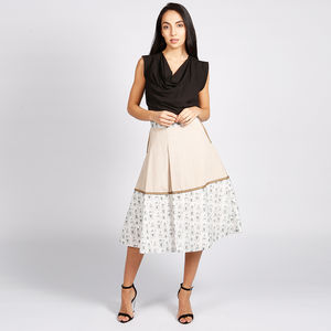 Hampstead 50s Style Skirt With Print Trim - women's fashion