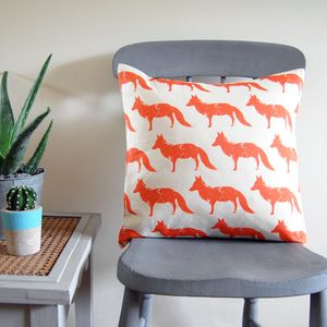 Small Square Fox Cushion - cushions