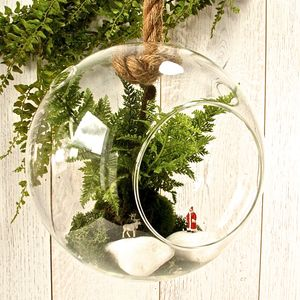 Christmas Hanging Terrarium Kit With Santa And Reindeer