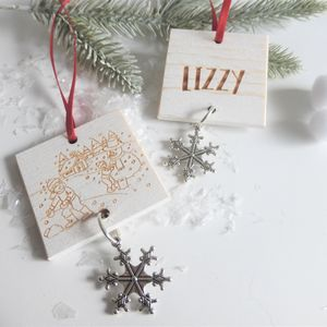 Personalised Christmas Decoration For Children - decorative accessories
