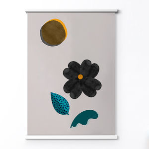 Minimalist Abstract Flower And Sun Art Print