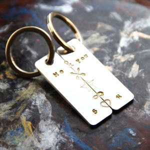 Personalised, You Make Me Whole Key Ring Set - men's accessories