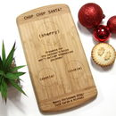 Personalised Santa's Snack Christmas Chopping Board