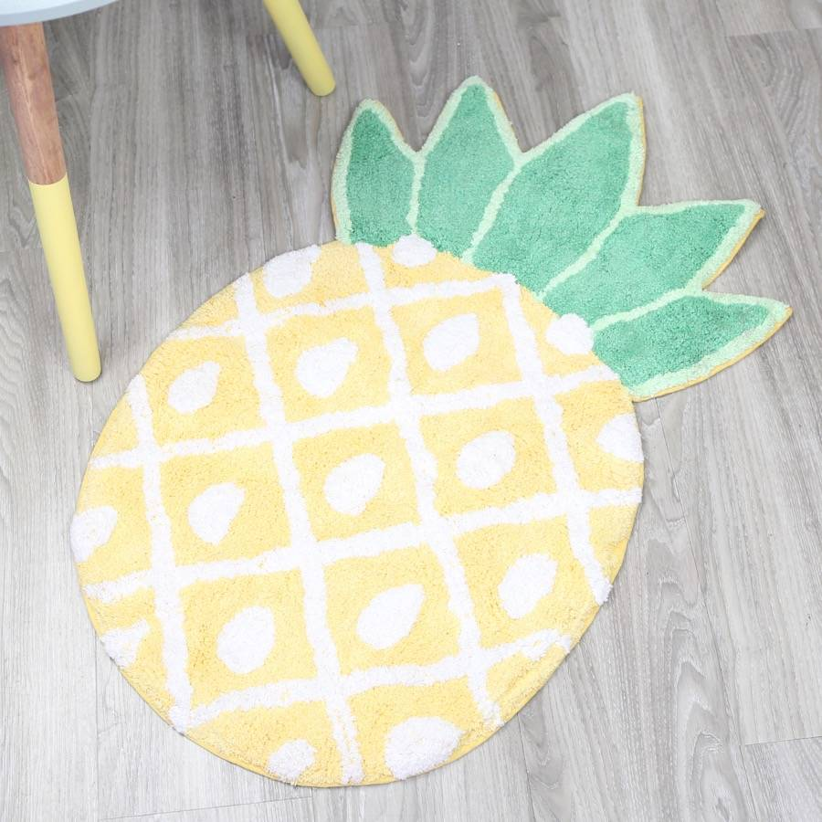 Pineapple Bath Mat By Lisa Angel