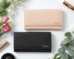Personalised Real Leather Purse Wallet - gifts for her