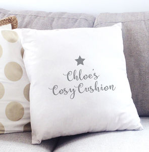 Cosy Personalised Cushion Cover