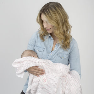 Red Kisses Organic Muslin Swaddle - blankets, comforters & throws