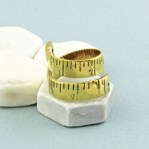 Golden Tape Measure Ring - rings