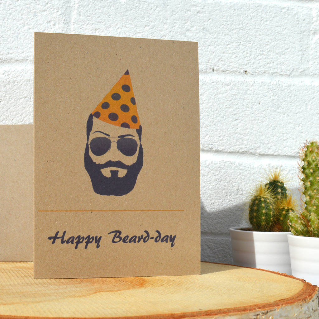 Good Day Organics 'Happy Beard Day' Eco Friendly Birthday Card