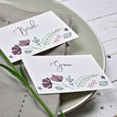 Personalised Marsala Floral Place Setting Cards