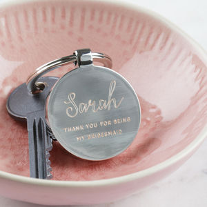 Thank You For Being My Bridesmaid Keyring - keyrings