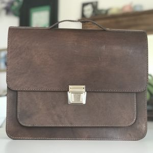 Brown Satchel Messanger Bag - laptop bags & cases