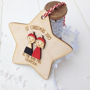 Personalised First Christmas As Mr And Mrs Decoration - top 100 decorations