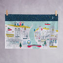 Whitby Christmas Tea Towel