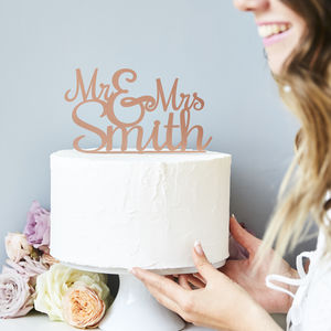 Personalised 'Mr And Mrs' Wedding Cake Topper - baking